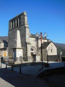 L'église d'Aujac